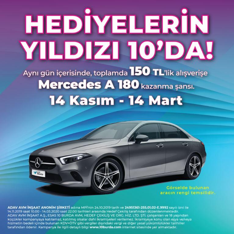 10 Burda Mercedes A 180 Çekiliş Kampanyası!