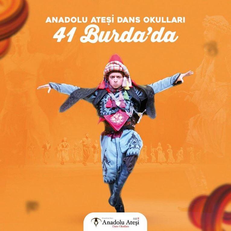 Anadolu Ateşi Dans Okulları 41 Burda'da!