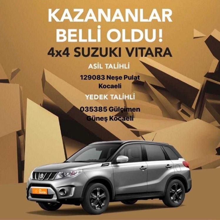 41 Burda Suzuki Vitara Çekiliş Sonucu Açıklandı!
