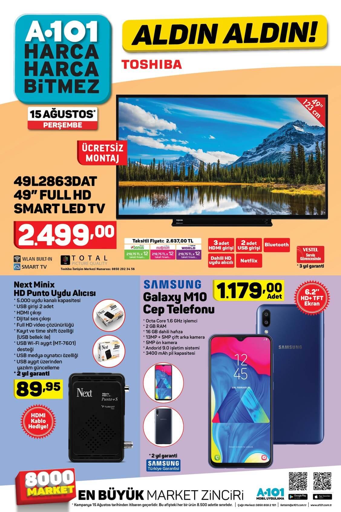 A101 15 Ağustos'tan İtibaren Aldın Aldın Aktüel Ürünleri!