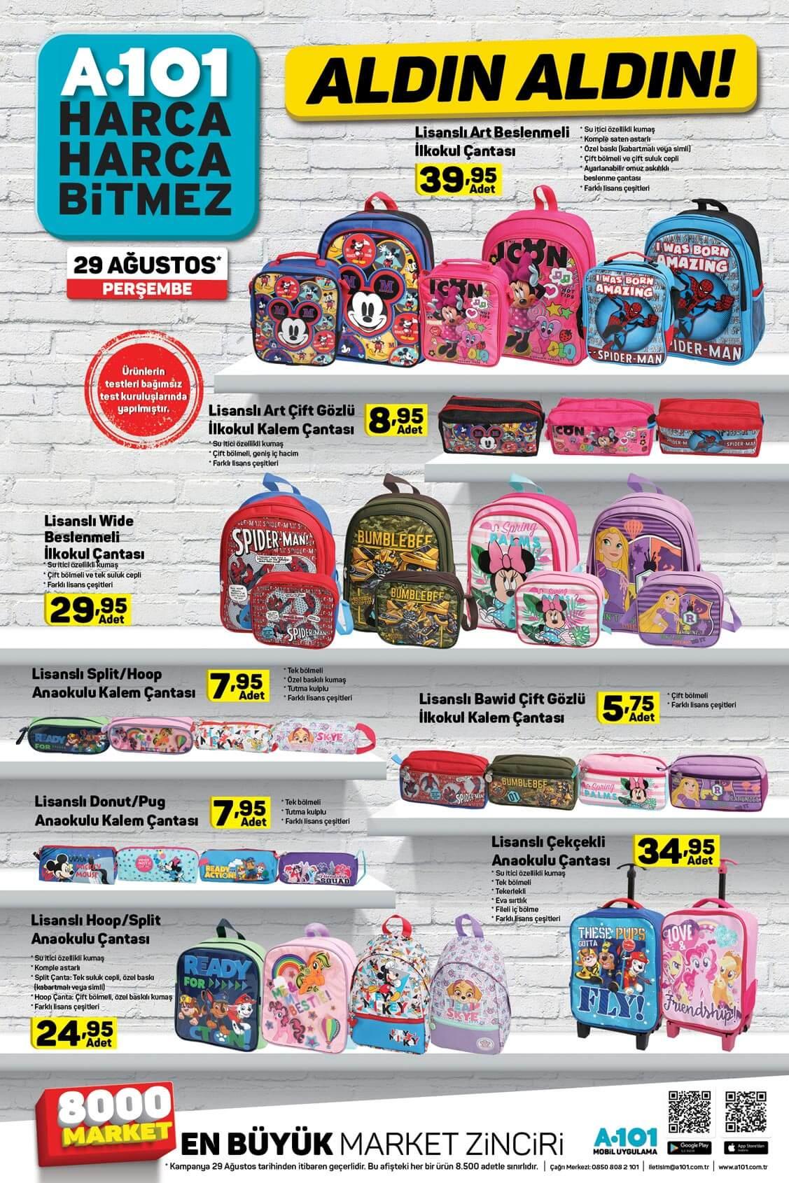 A101 29 Ağustos'tan İtibaren Aldın Aldın Okula Dönüş Aktüel Ürünleri!