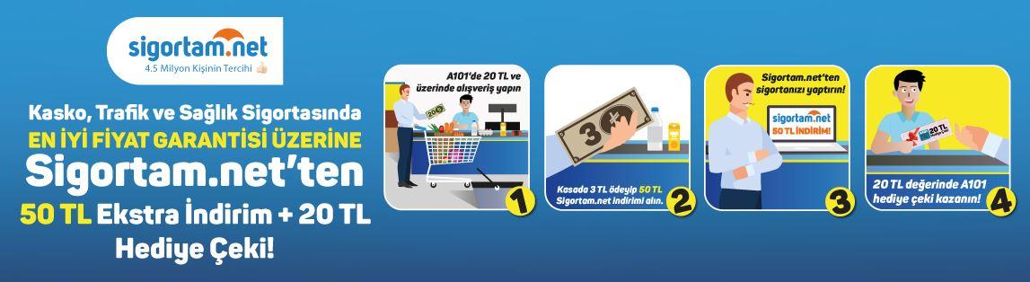 A101'den Alışveriş 50 TL Sigortam.net İndirimi Kazandırıyor!