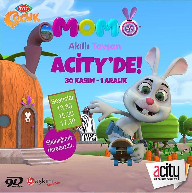 Acity Outlet Akıllı Tavşan Momo Etkinliği!