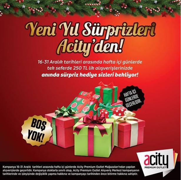 Yeni Yıl Sürprizleri Acity'den!