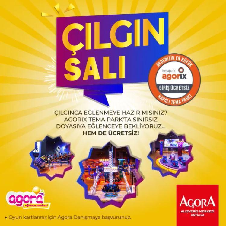 Agora Antalya'nın Çılgın Salı Kampanyası devam ediyor