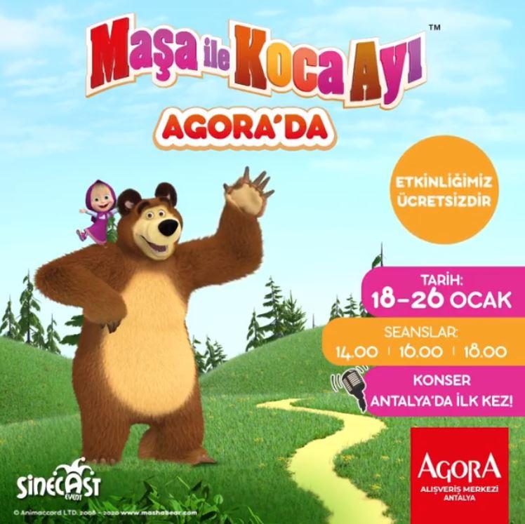 Maşa ile Koca ayı ara tatilde Agora Antalya'da!