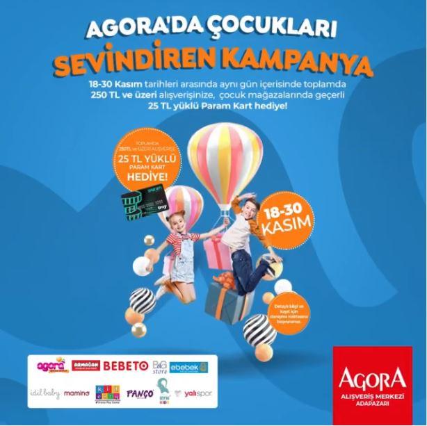 Agora Adapazarın'da çocukları sevindiren kampanya!