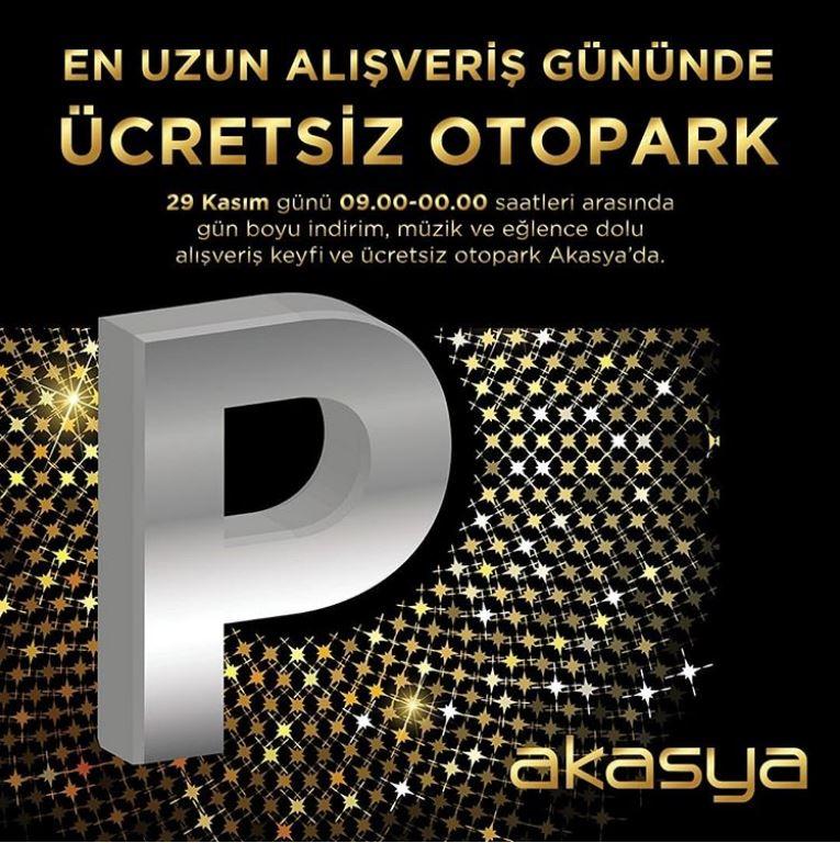 Akasya ücretsiz otopark kampanyası