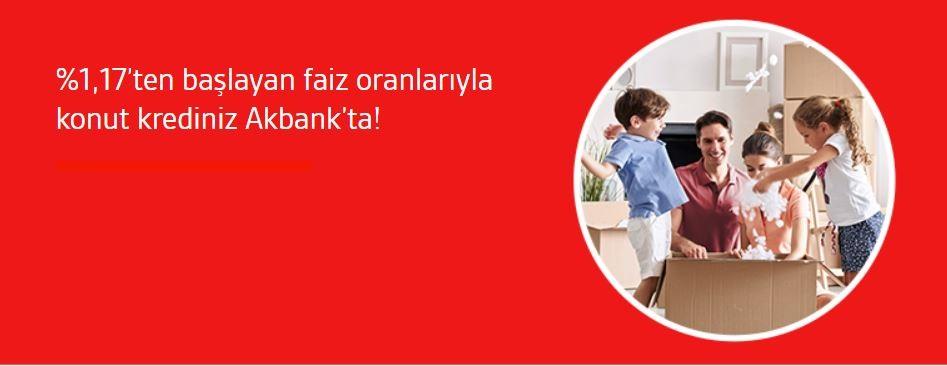 Akbank Konut Kredisi Kampanyası!