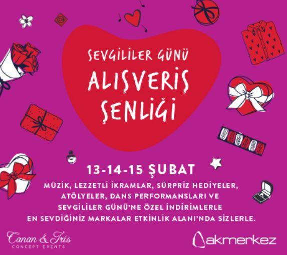 Akmerkez Sevgililer Günü Alışveriş Festivali!