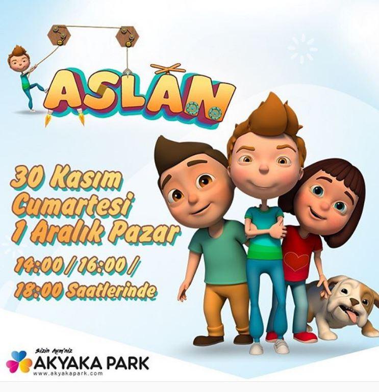Sevilen çizgi film karakteri Aslan Akyaka Park'ta