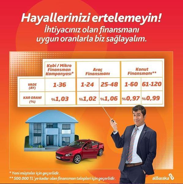 Albaraka Türk ile Hayallerinizi ertelemeyin!