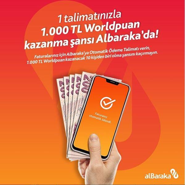 Albaraka Otomatik Ödeme Çekiliş Kampanyası!