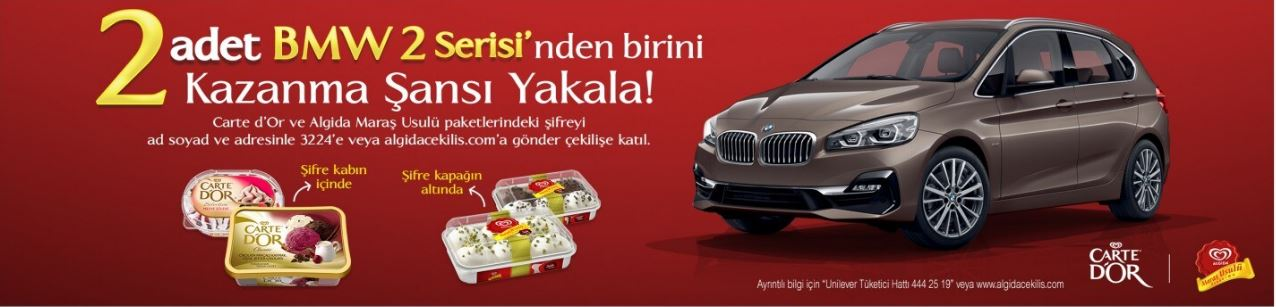 Carte d'Or ve Algida Maraş Usulü BMW 2 Serisi Çekilişi!