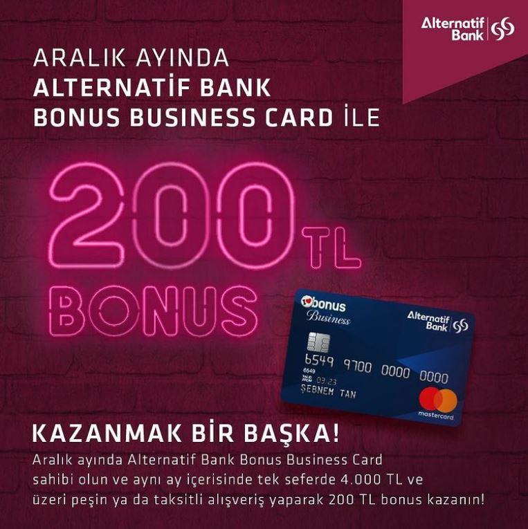 Alternatif Bank Bonus Business'tan 200TL Bonus Fırsatı!