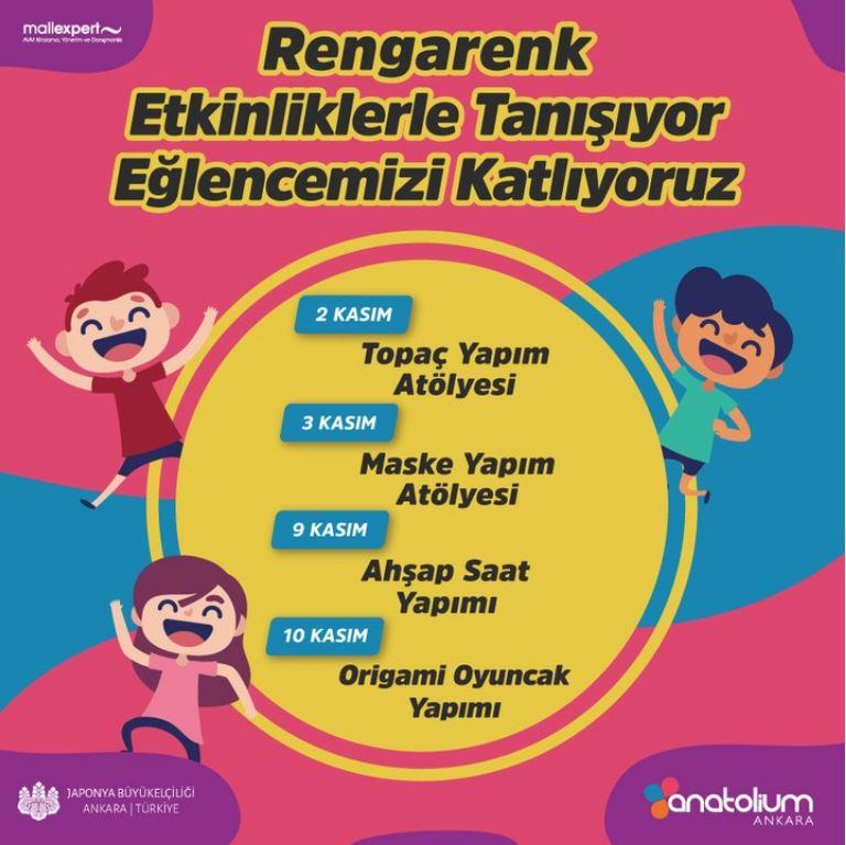 Anatolium Ankara Kasım ayı Çocuk Etkinlikleri!