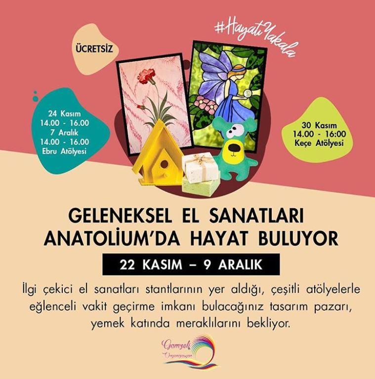 Geleneksel el sanatları Anatolium Bursa'da buluşuyor!