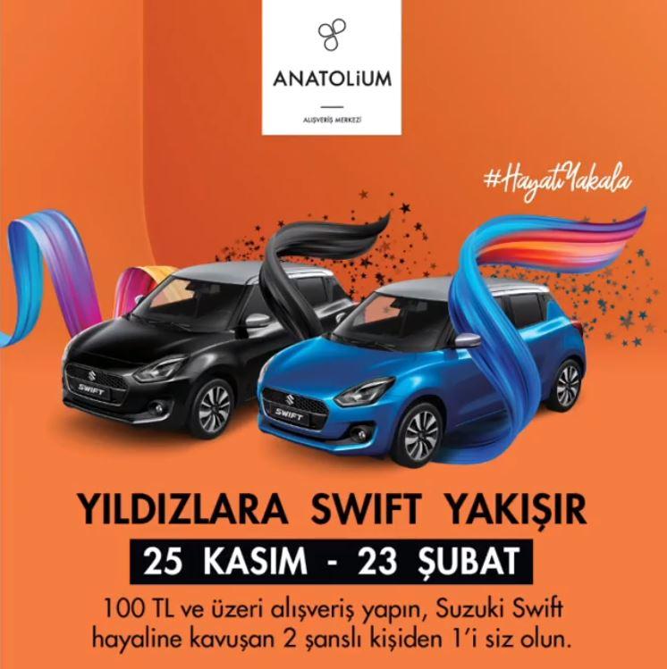 Anatolium Bursa Suzuki Swift Çekiliş Kampanyası!