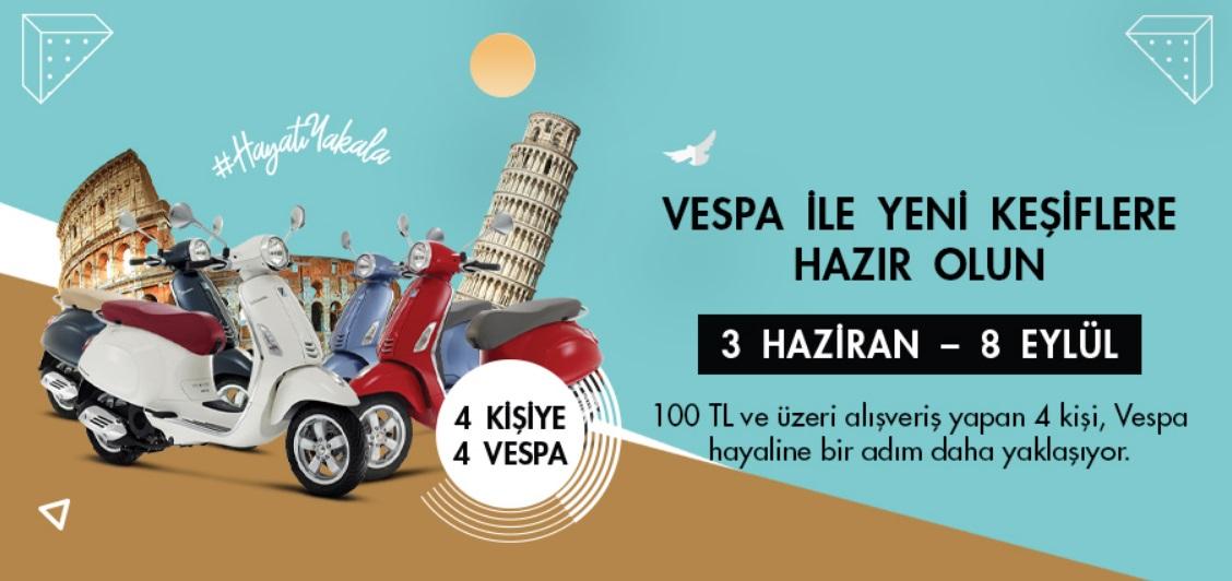 Anatolium Bursa Vespa Çekiliş Kampanyası!