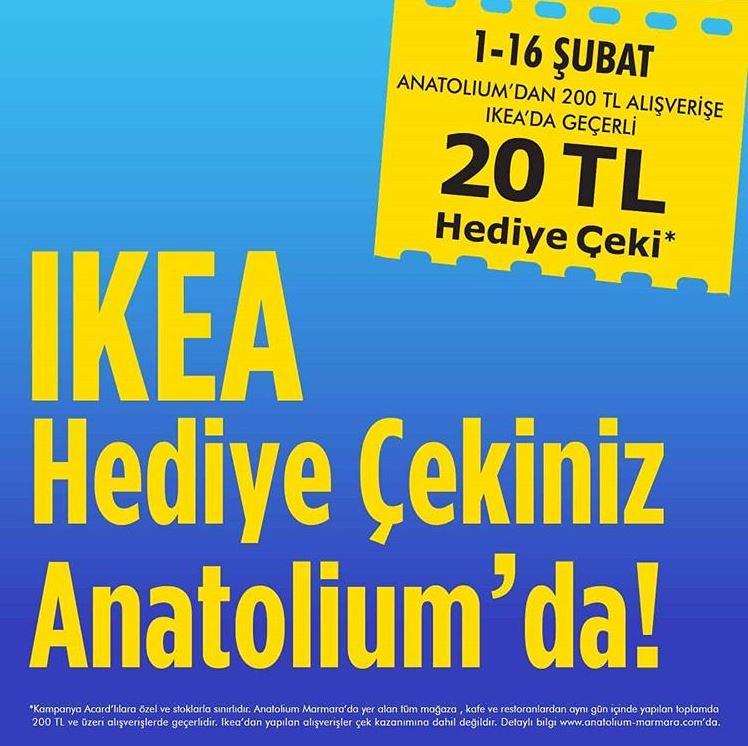 IKEA hediye çekiniz Anatolium'da!