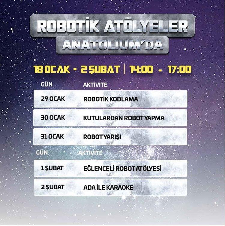 Anatolium Marmara Robotik Kodlama Atölyesi!