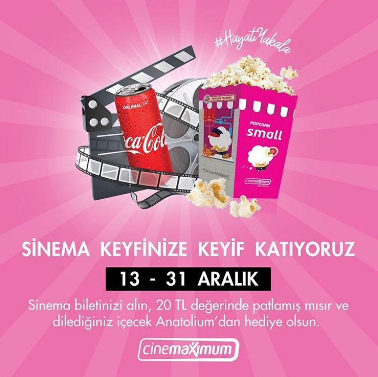Anatolium Bursa Sinema keyfinize keyif katıyor!
