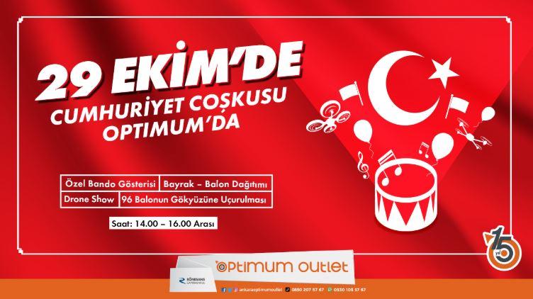 Ankara Optimum 29 Ekim Cumhuriyet coşkusu!