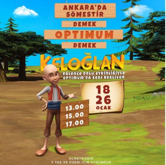 Keloğlan Eğlence Dolu Etkinliğiyle Ankara Optimum'da!