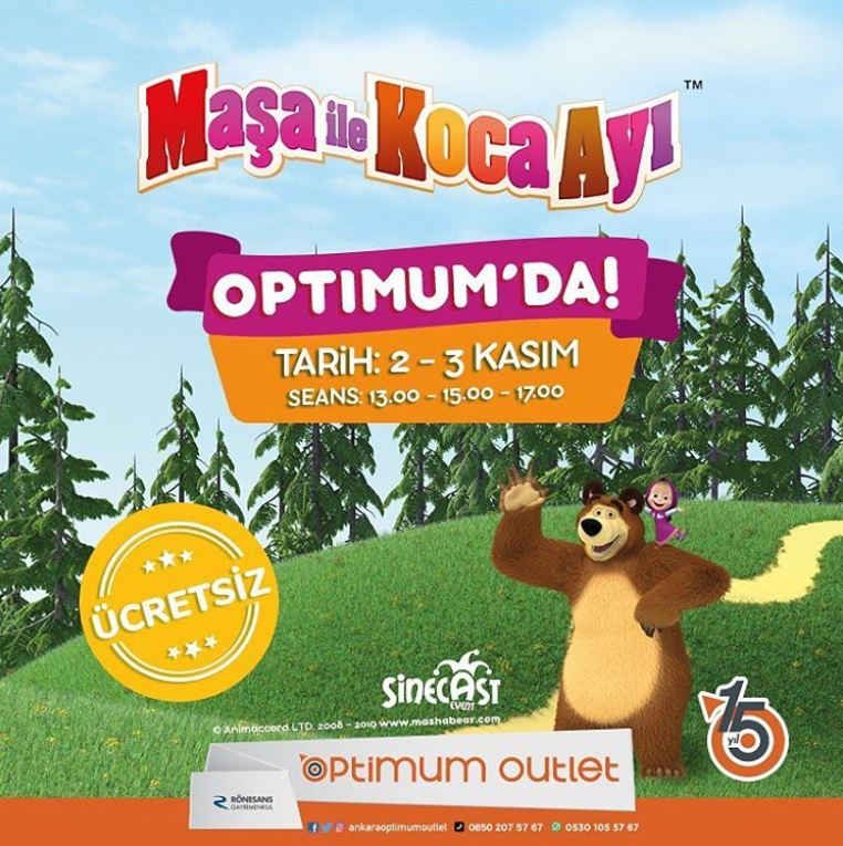 Ankara Optimum Maşa ile Koca Ayı Müzikal Gösterisi!