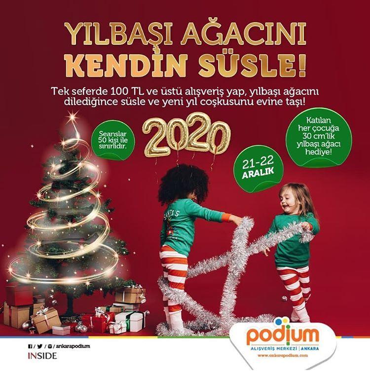 Ankara Podium ile Yılbaşı ağacını kendin süsle!