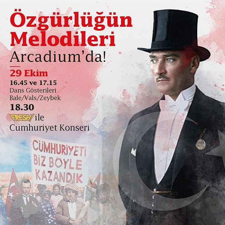 Özgürlüğün Melodileri Arcadium AVM'de!