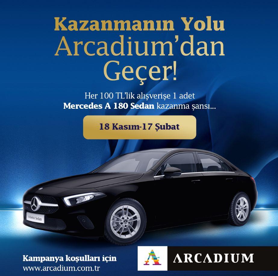Arcadium Mercedes A 180 Sedan Çekiliş Kampanyası!