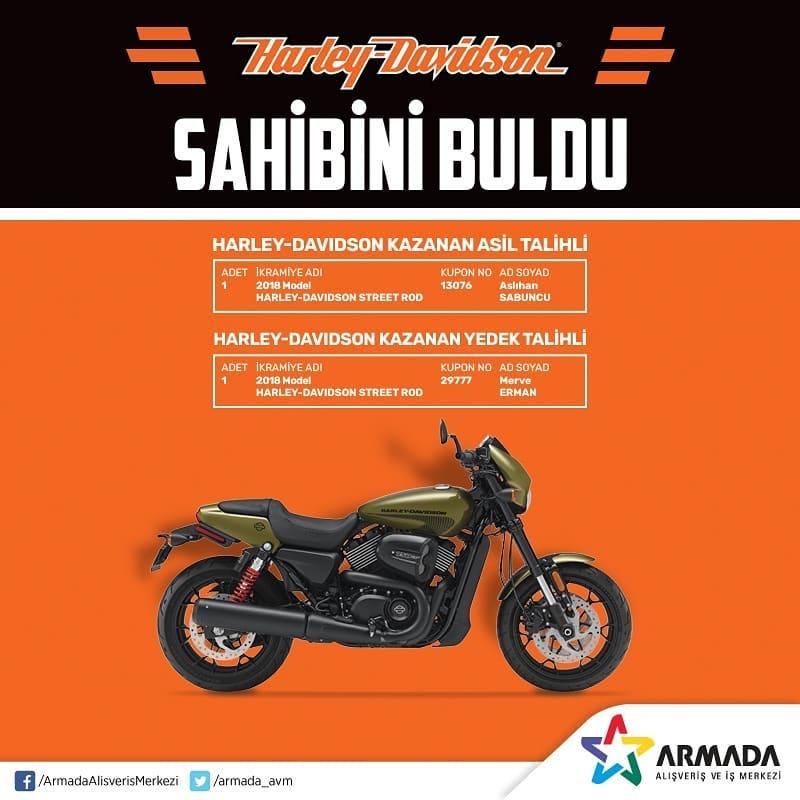 Armada AVM Harley Davidson Çekiliş Sonucu Açıklandı!