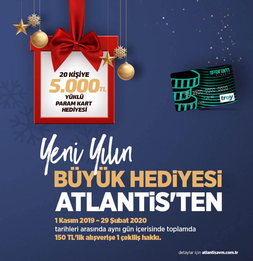 Atlantis AVM 5.000 TL Yüklü Param Kart Çekiliş Kampanyası!