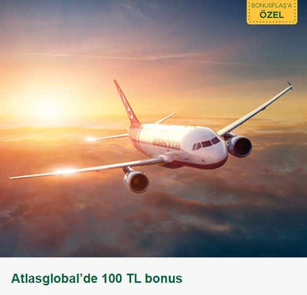 Atlasglobal'de 100 TL bonus