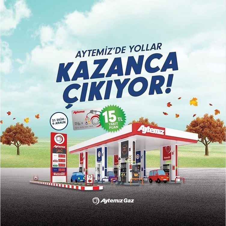 Aytemiz Gaz Alanlar 15 TL değerinde Yakıt Puan kazanıyor!