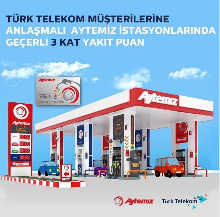 Türk Telekom BiDünya Fırsat'a özel 3 kat puan avantajı Aytemiz'de!