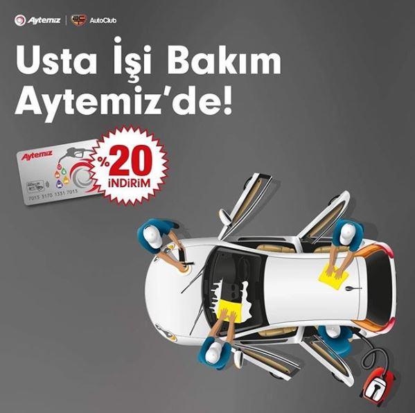 Auto Club Uygulama Merkezleri'nde %20 İndirim Aytemiz'den Hediye!
