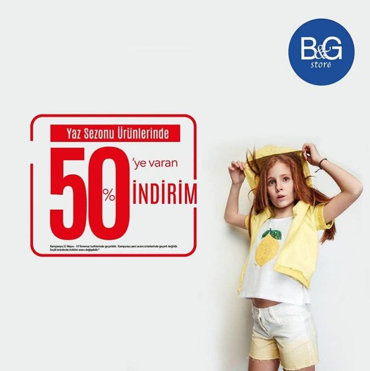 B&G Store %50 İndirim fırsatı!