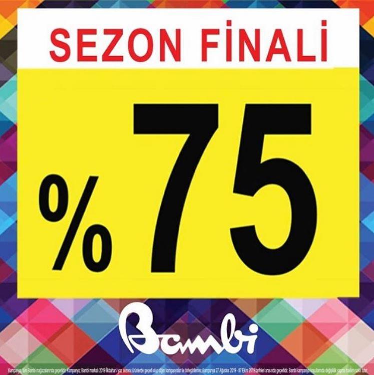 Bambi Ayakkabı'dan %75 İndirimli Sezon Finali!