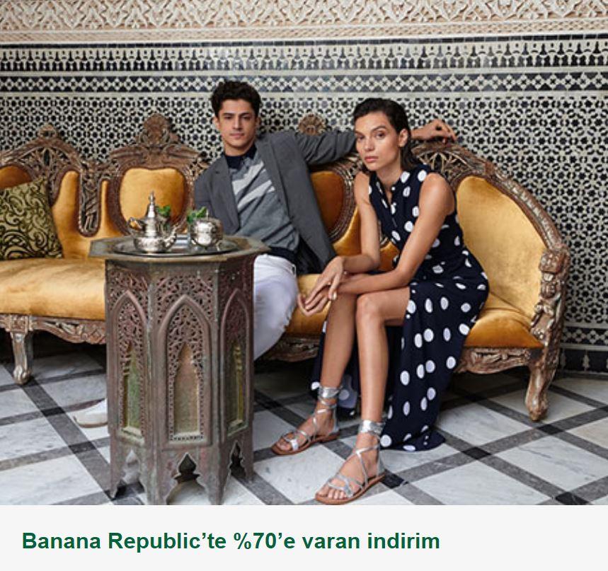 Banana Republic'te %70'e varan indirim