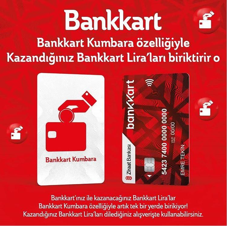 Bankkart kumbara özelliğiyle Kazandığınız Bankkart Lira'ları biriktirir o.