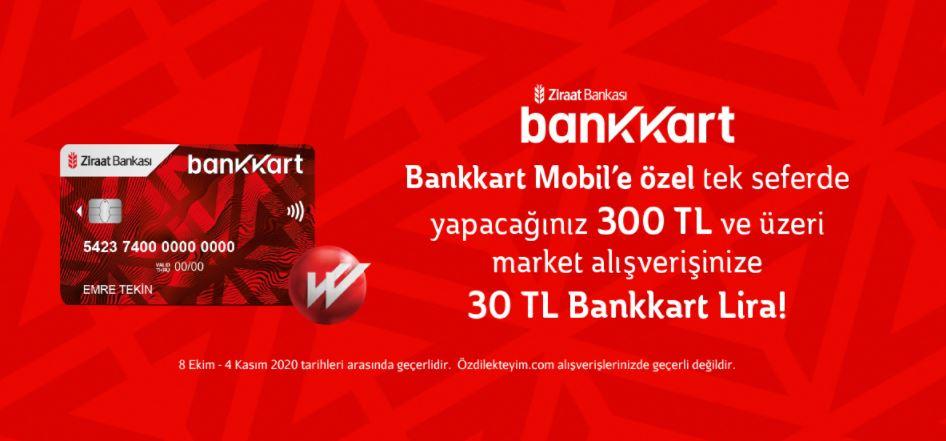 Özdilek Hipermarketlerinde 30 TL Bankkart Lira!
