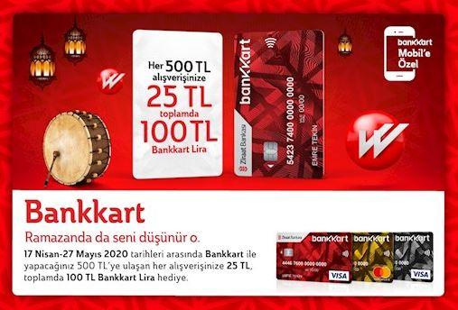 Bankkart'tan Ramzan'da 100 TL Bankkart Lira Fırsatı!