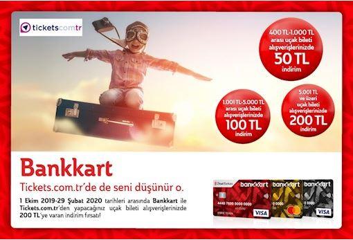 Bankkart ile www.tickets.com.tr'de 200 TL'ye varan indirim!