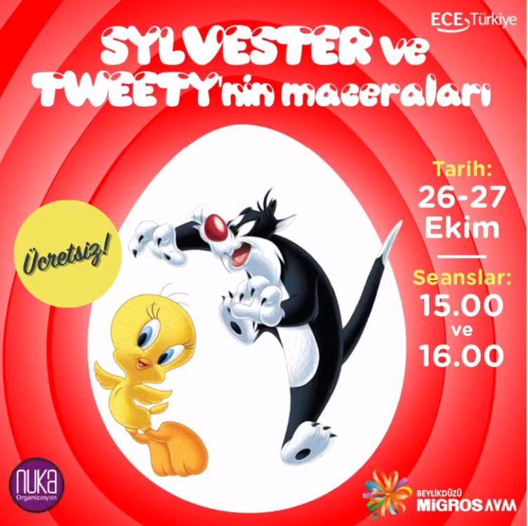 Beylikdüzü Migros AVM Sylvester ve Tweety Tiyatrosu!