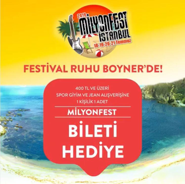 2019 Milyonfest İstanbul Ruhu Boyner'de!