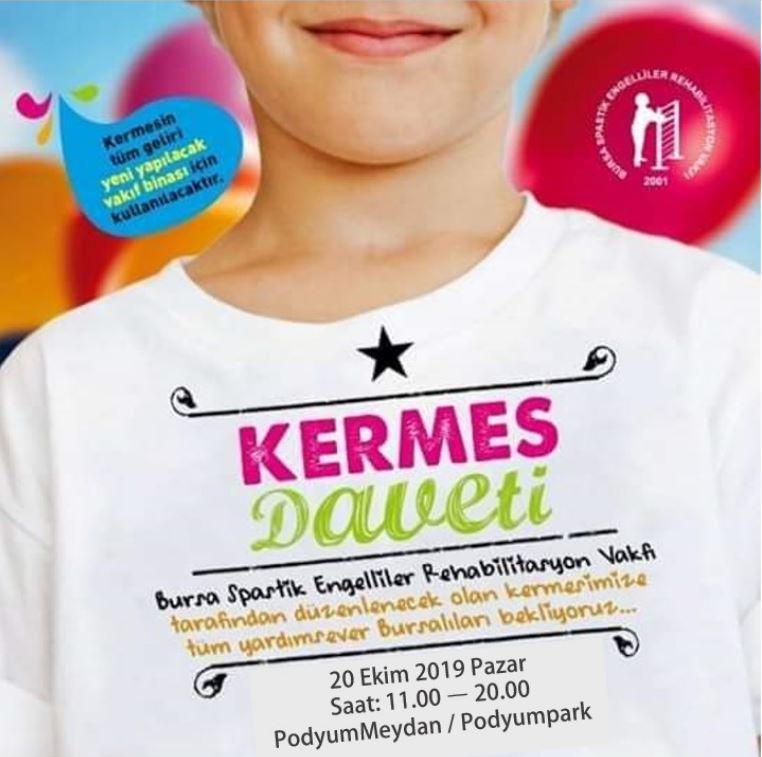 Podyumpark Bursa Spastik Engelliler Rehabilitasyon Vakfı Kermesi!