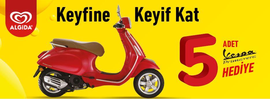 Çağdaş Market Algida Vespa Motosiklet Çekiliş Kampanyası!
