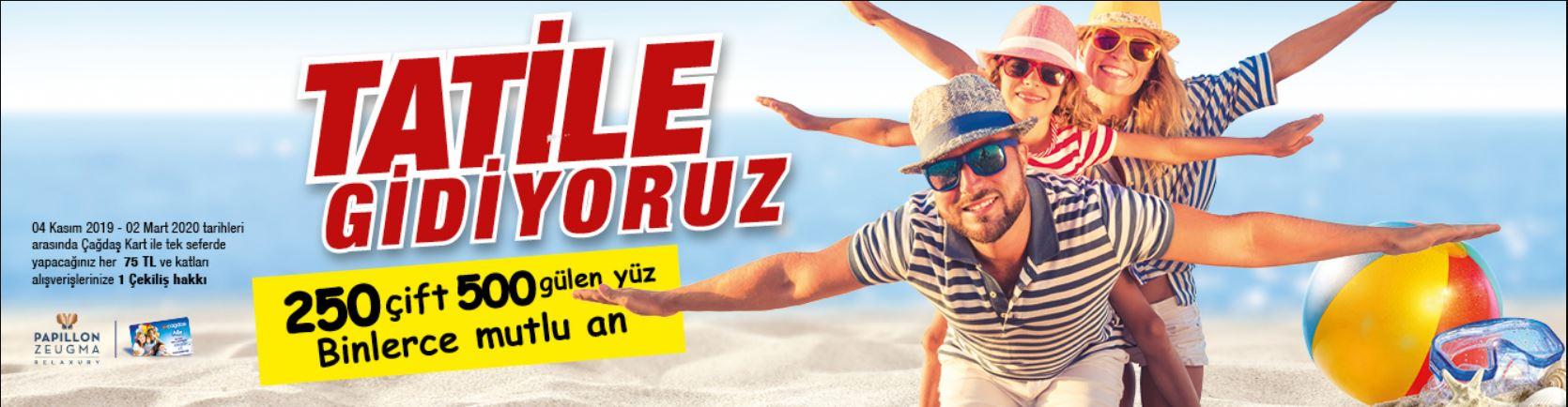Çağdaş Market 250 Çift 500 Gülen Yüz Tatil Çekiliş Kampanyası!